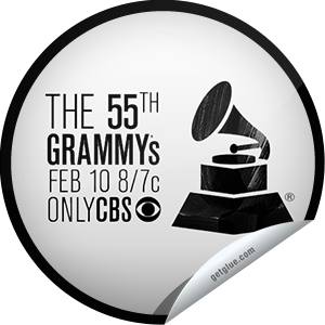 I just unlocked the 55th Annual GRAMMY Awards sticker on GetGlue                      27856 others have also unlocked the 55th Annual GRAMMY Awards sticker on GetGlue.com                  You wouldn't miss Music's Biggest Night and its most amazing performances. Thanks for watching the 54th Annual GRAMMY Awards, 8:00 EST, February 10, 2013 on CBS! Share this one proudly. It's from our friends at The GRAMMY Awards.