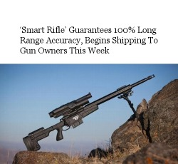 libertycrier:  'Smart Rifle' Guarantees 100% Long Range Accuracy, Begins Shipping To Gun Owners This Week - http://bit.ly/12PloHY