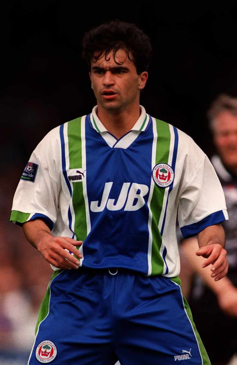 90sfootballkits:  Roberto Martinez, Wigan Athletic