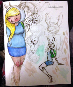 laurenmoran:  another something from tonight. a mix of pencil, markers, and watercolors
