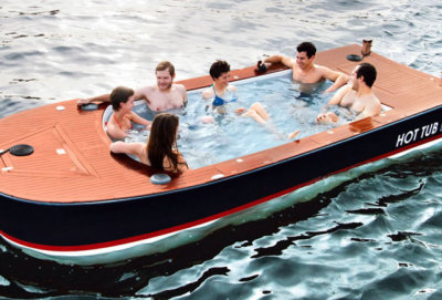 Embark on a voyage of total leisure in a Hot Tub Boat.