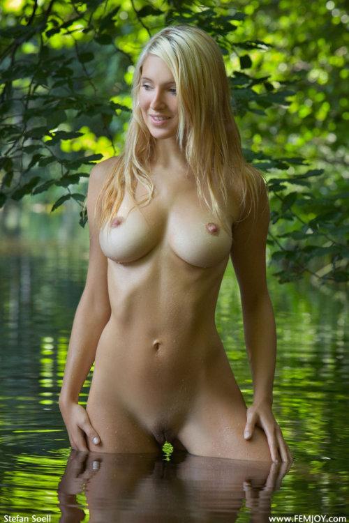 Beautiful Blonde Russian Nude In Water