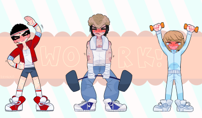 tenkko:  ahrdcore work out everybody (plz click to see better view)