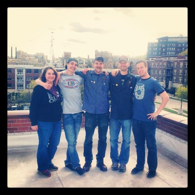 Lakefront crew on Lakefront's roof!