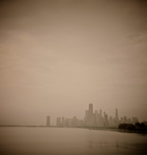 Summertime in Chicago. Shot with my Diana (1960's original), using Ilford Delta 400 Pro.