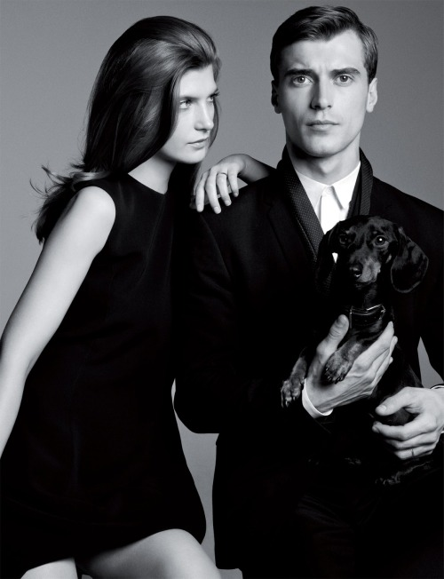"stormtrooperfashion:  Clément Chabernaud & Valerija Kelava in ""Family Matters"" by Andreas Larsson for Man About Town #12, Spring/Summer 2013"