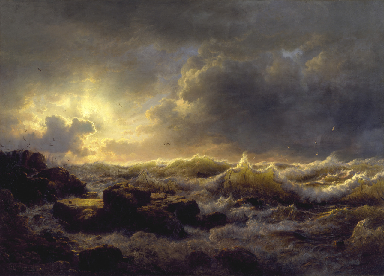 Clearing Up, Coast of Sicily (1847), oil on canvas, The Walters Art Museum | artwork by Andreas Achenbach