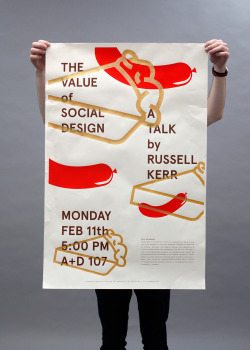 Collateral made for Russell Kerr's Lorado Taft Lecture in February at the University of Illinois at Urbana-Champaign.  Serigraph/2013