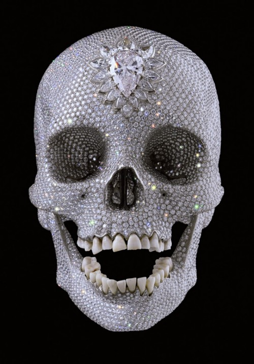 ryandonato:  Damien Hirst, For the Love of God  When I die, make my skull like this.