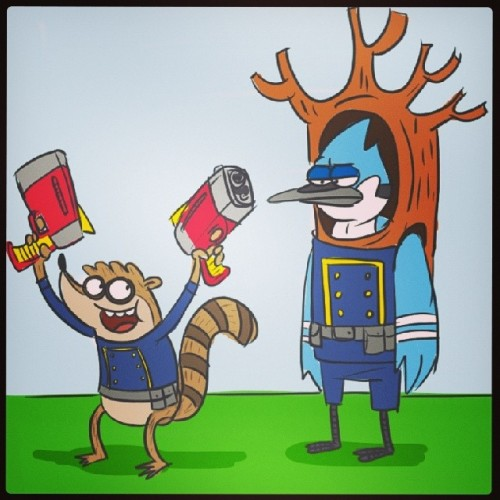 Mordecai Rigby Hmm Mordecai And Rigby Are Super