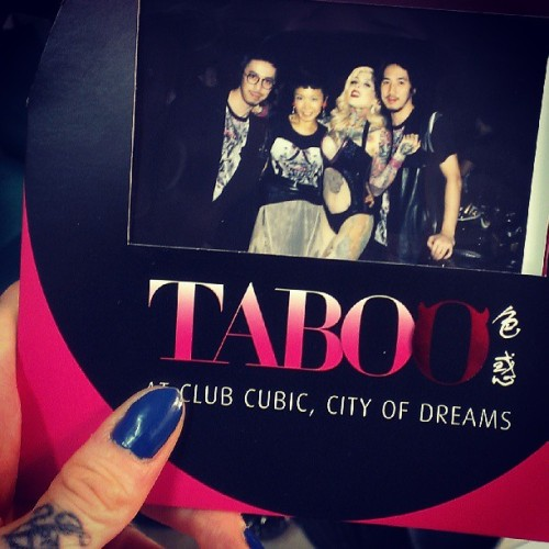 #TABOO Grand Opening #love! With designers of the TABOO charity t-shirt / AIDS research shirt - Johanna Ho, and the Ground Zero brothers <3<3<3