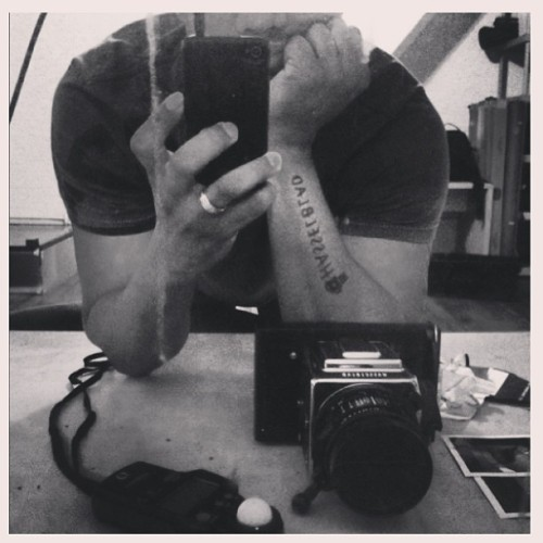 So u don't believe me ? #hasselblad #photography #clocktower #studio #tattoo  (at Benjamin Briu Photography)