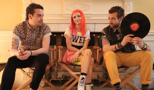 "Paramore is debuting their new self-titled album one vinyl side at a time this week in ""4 Sides / 4 Nights"" videos – Watch & listen to the first four songs of ""Paramore"" here: http://blbrd.co/12c95pf"