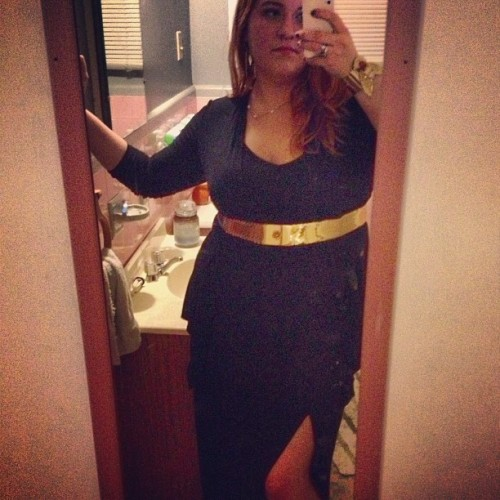 Black and gold #ootd #newdress #fatpositive #fatshion