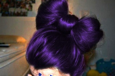 hug-freak:  Hair / Dark purple hair bow on We Heart It - http://weheartit.com/entry/44008728/via/freehugsmimi