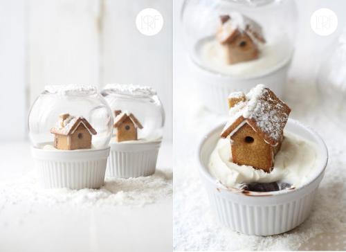 classymissmolassy:  Edible Snow Globe Recipe. (translated from Spanish)