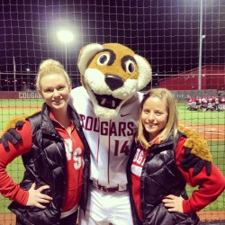 @lanaekayayy and I with Butch! #baseball #wsu #wsubaseball #cougs #cougarbaseball #gocougs  (at Bailey–Brayton Field)