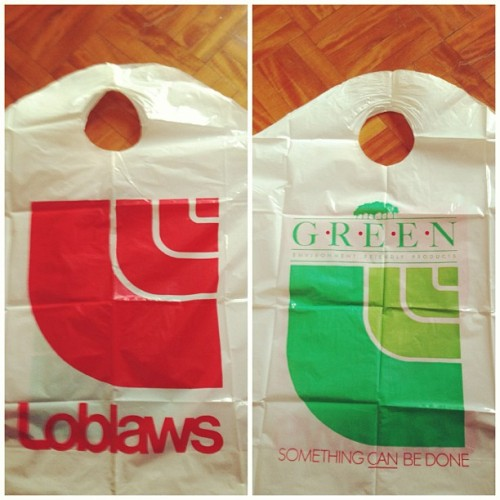 #oldschool #bag #loblaws thanks to Mr.Molnar  (at iBoop's Castle )
