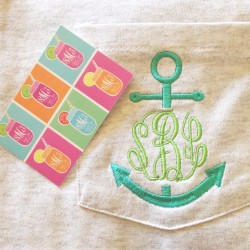 thepinkpoppy:  My day just got better! ⚓ #monogram #sweetteamonograms
