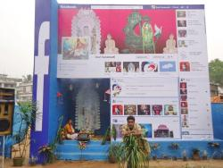 peterfromtexas:   Facebook themed hindu temple in India