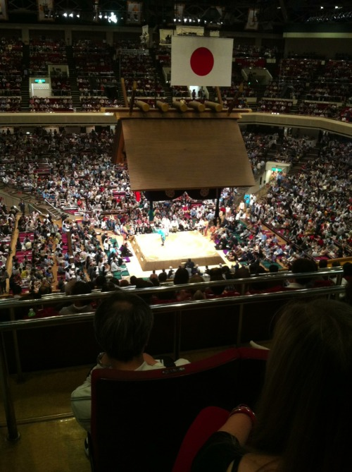 Sumo stadium Sorry in the nosebleed section Sorry about the odd quality of posts too, I'm doing these from an iPhone and can't always tell what goes through or not.