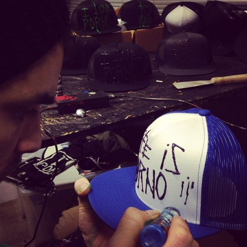 New #ACAB #Lifeisporno caps in the making. (at LifeisPorno Forbidden Gallery)