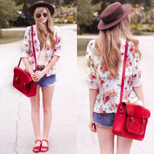 lookbookdotnu:  Bright florals. (by Steffy Kuncman)