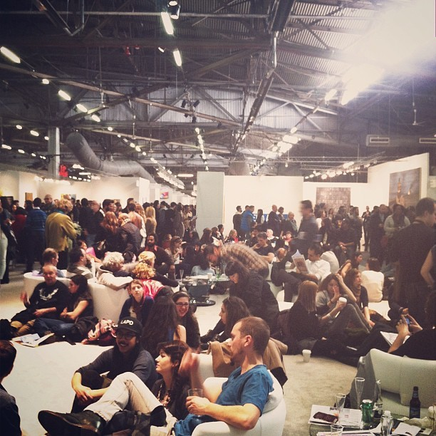 Lounging at The Armory Show. #armoryshow (at The Armory Show)