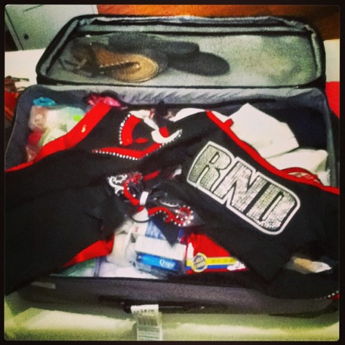 Suit case ready for Cheerleading Worlds 2013 <3