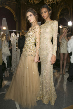 girlannachronism:  Zuhair Murad spring 2013 couture backstage