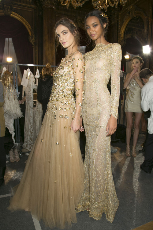 vogue-is-viral:  girlannachronism:  Zuhair Murad spring 2013 couture backstage  Hey vogueisviral.com is giving away $200 worth of Juicy Couture, BCBG, and J.Crew accessories! You should check it out. You can enter the giveaway up to 4 times everyday! To enter go to top center of vogueisviral.com
