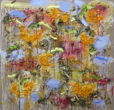 cavetocanvas:  Joan Snyder, Ode to a Pumpkin Patch, 2012