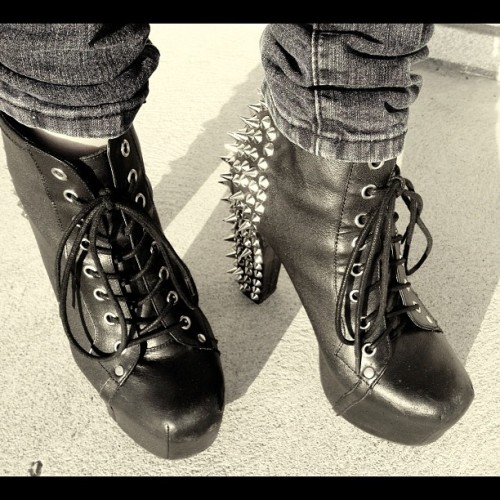 Long time no see babies <3 #jeffreycampbells #spiked #litas #heels #fashion