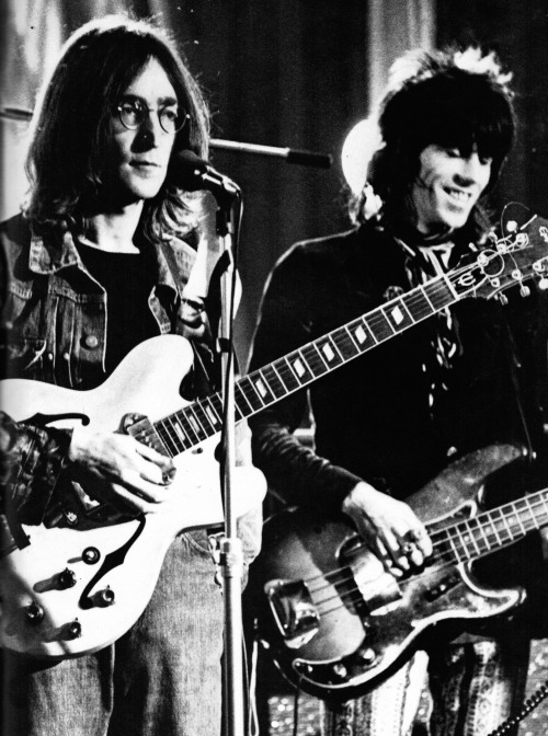 John and Keith at the Rock and Roll Circus, December 12, 1968.