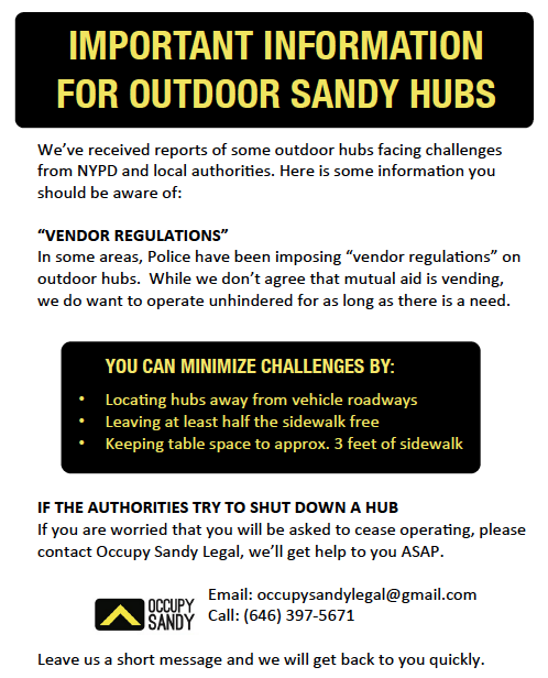 occupysandystatenisland:  Print version here. Please print a copy and keep at your hub.
