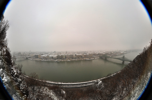 Budapest's landscape on 2012. December 24 morning from the Gellért hill.