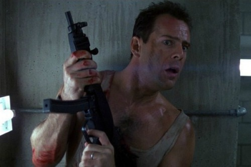 DIE HARD COMES OUT THIS WEEK. I am seriously too excited. My friends… well, they put up with me. It's like this: