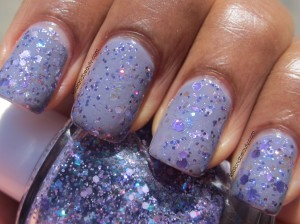 Different Dimension That is SO Fetch! over Sally Hansen Greige Gardens