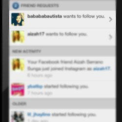 Finally, my ig na ang chickiest girl on earth! Hahaha. @babababautista post ka na ng food mo ngayn girl. :D