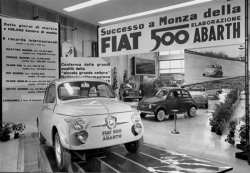 Fiat 500 Abarth 1958, World Record Breaking Car at Milan Car Show 1958