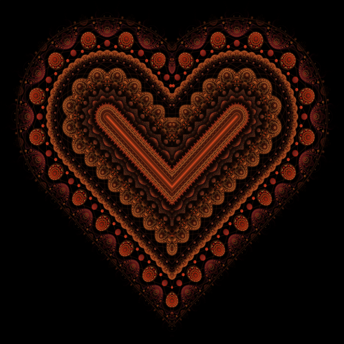 Fractal Heart by ~haywain (Wægen)       (fh518b) Available from DeviantART as high resolution (5000x5000px) download for free, or for purchase as print (prints, cards, mugs and more).