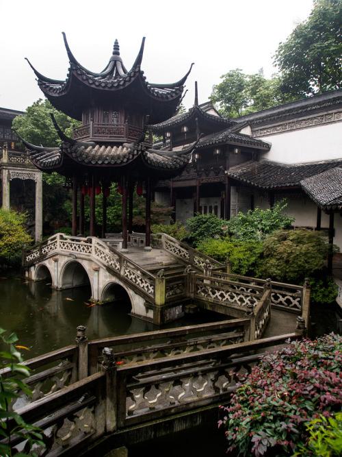 China Hangzhou architecture travel mansion tourism asia oriental chine bridge pagoda wood