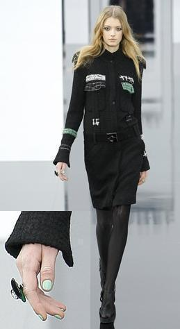 Runway Lacquer Daily Spotlight: Jade for Chanel A/W 09 RTW 'Like' us on Facebook and follow us on Twitter @Lacquerous for even more fashionable lacquer!