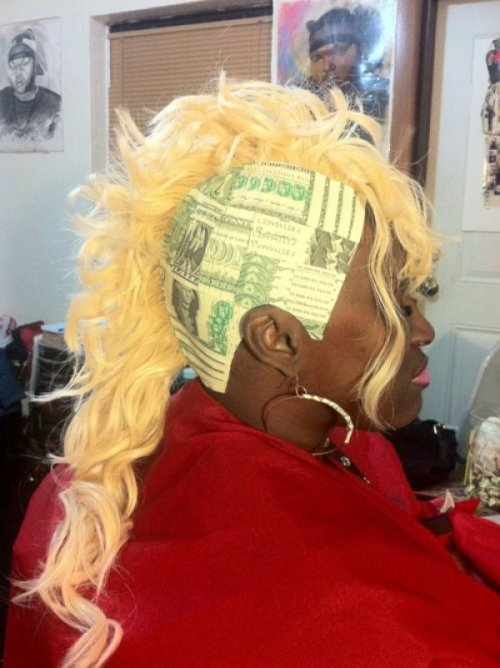 Money Weave Dolla dolla bill bald.