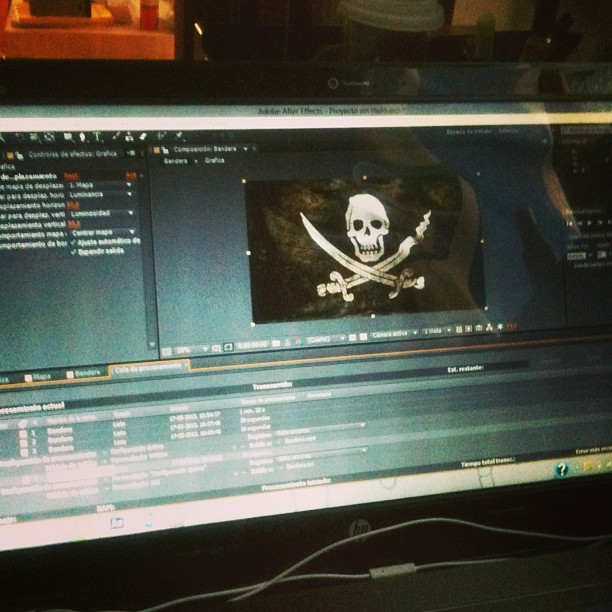 Ya queda menos #pirates #flag #aftereffects