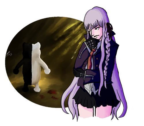 yeah a kirigiri had been sitting on my computer for a little while so i finally merged the layers and stuff yay i have a thing of naegi too but i need to finish it aahh