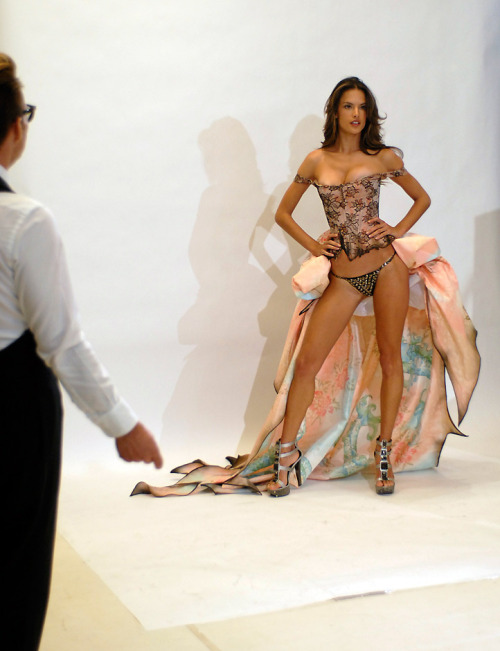 victorias-secret-addiction:  Alessandra Ambrosio Victoria's Secret Fashion Show 2010 fitting