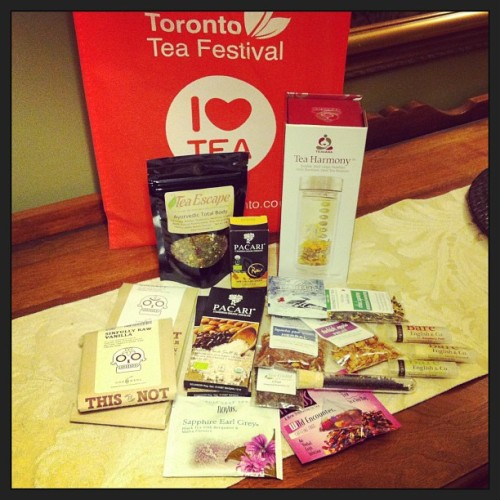 Teahaul i got so many things super exited to try them all #torontoteafestival #teafestival #tea #chocolate #drink #food tumbler from @cecvin