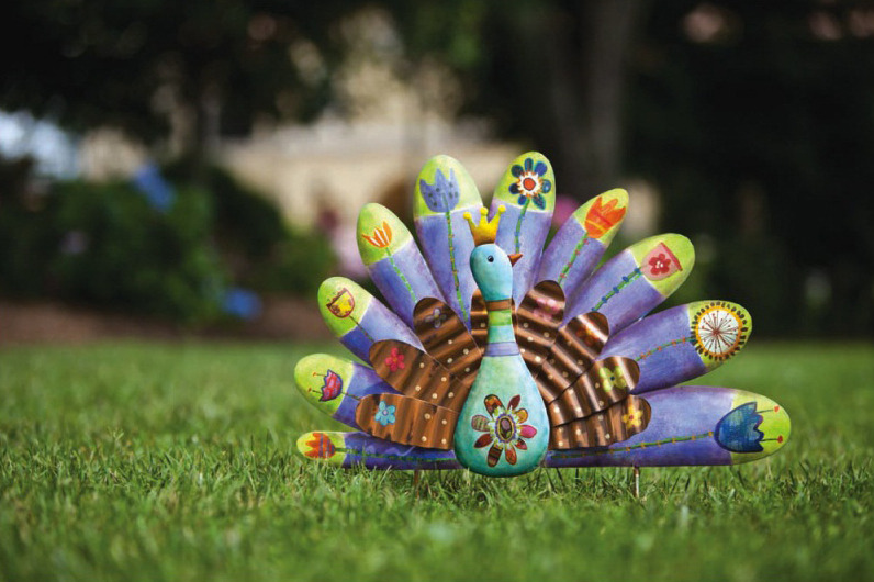 Fluff out your creative feathers! Colorful lawn ornaments are a great way to brighten your yard and get into the spirit of spring.