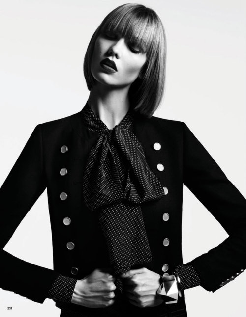 classicmodels:  Karlie Kloss Poses for Hedi Slimane in Vogue Japan June 2013